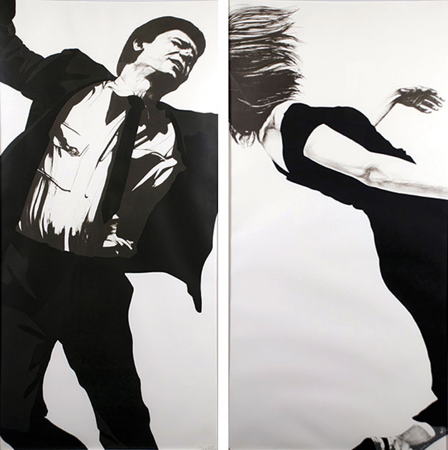 Robert Longo Untitled Men in Cities Series Larry and Joanna b