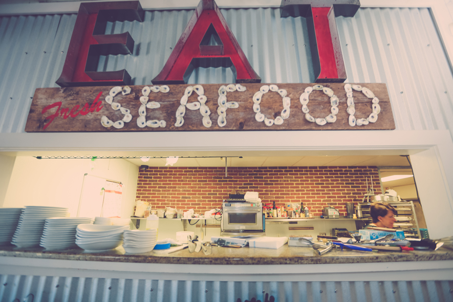 Marjorie Ashens North Beach Fish Camp Eat Fresh Seafood Sign g