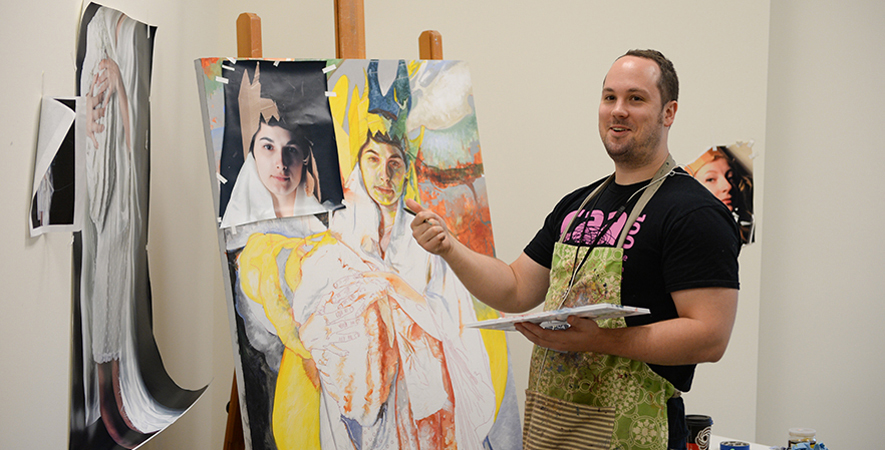Jason John Get Real Paints in Studio a