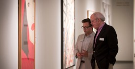 Curator Ben Thompson and Preston Haskell