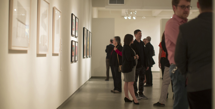 Members Observe the New Gallery Installation During In Living Color
