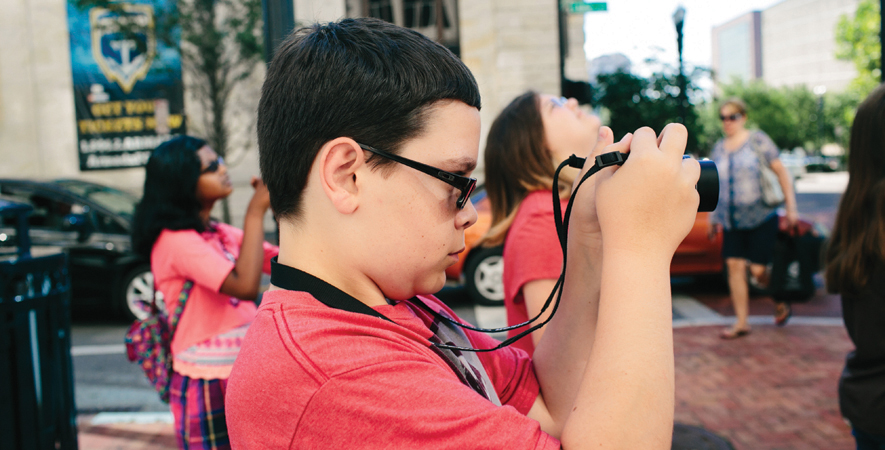 A Boy Takes Photographs of Downtown Jacksonville During Art Camp