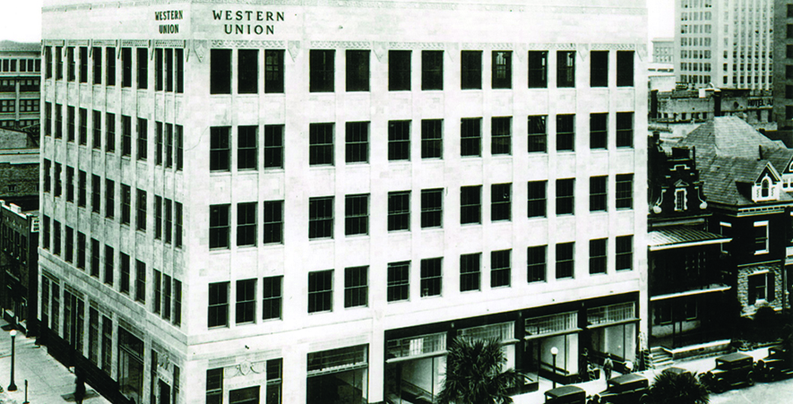 A Historic Shot on the MOCA Jacksonville Building When it Housed the Western Union Company
